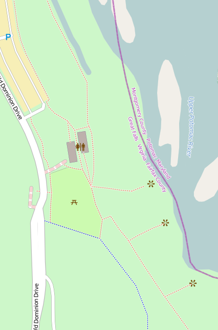 A map of Great Falls National Park