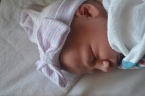 Baby Elise sleeping