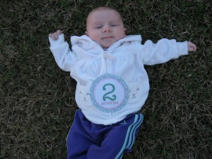 Picture of Elise at two months.