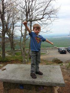 My little super man