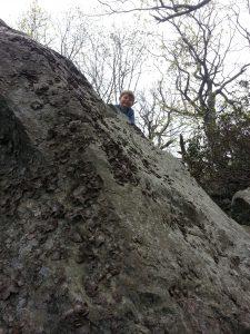 Climbing on tnhe rocks... no help needed