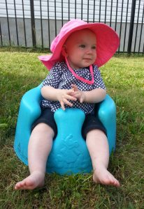 June 16: Enjoying being out in the yard