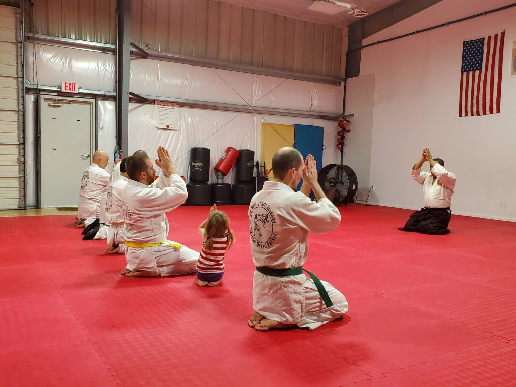 Elise bowing out of Aiki class.